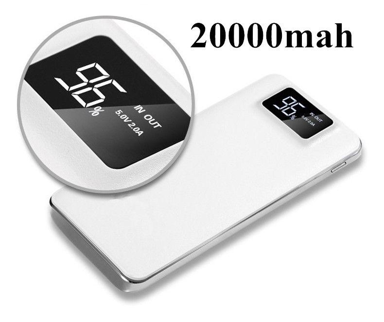 18650 Original Doppel USB Power bank 20000 mAh LCD Tragbare Power Ladegerät Externe Batterie Schnellladung Für Handys Tablet