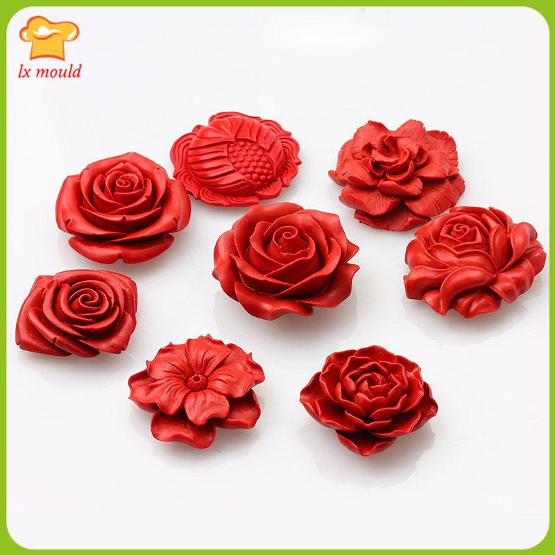 Variety DIY decorative flower fondant cake mold  clay mold  soap mold  chocolate mold  Dessert Tools