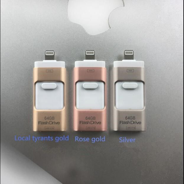 new! 3 in1 Usb flash drive 8gb 16gb 32gb 64gb 128gb For iPhone 5/5s/5c/6/6 Plus/ipad i-Flashdrive Pen Drive /Otg Usb Flash stick