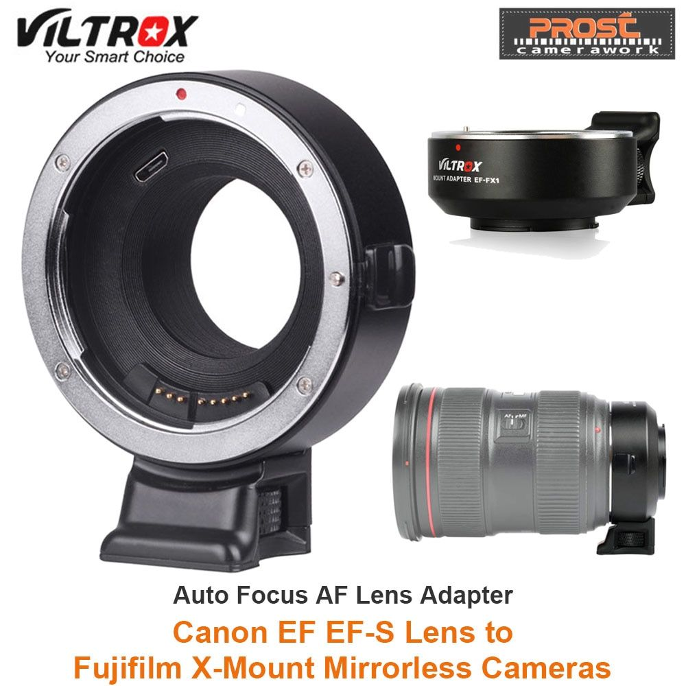 VILTROX EF-FX1 Auto Focus Lens Mount Adapter for Canon EF/EF-S Lens to Fuji X-Mount Mirrorless X-T1 X-T2 X-T10 X-T20 X-A1 Camera