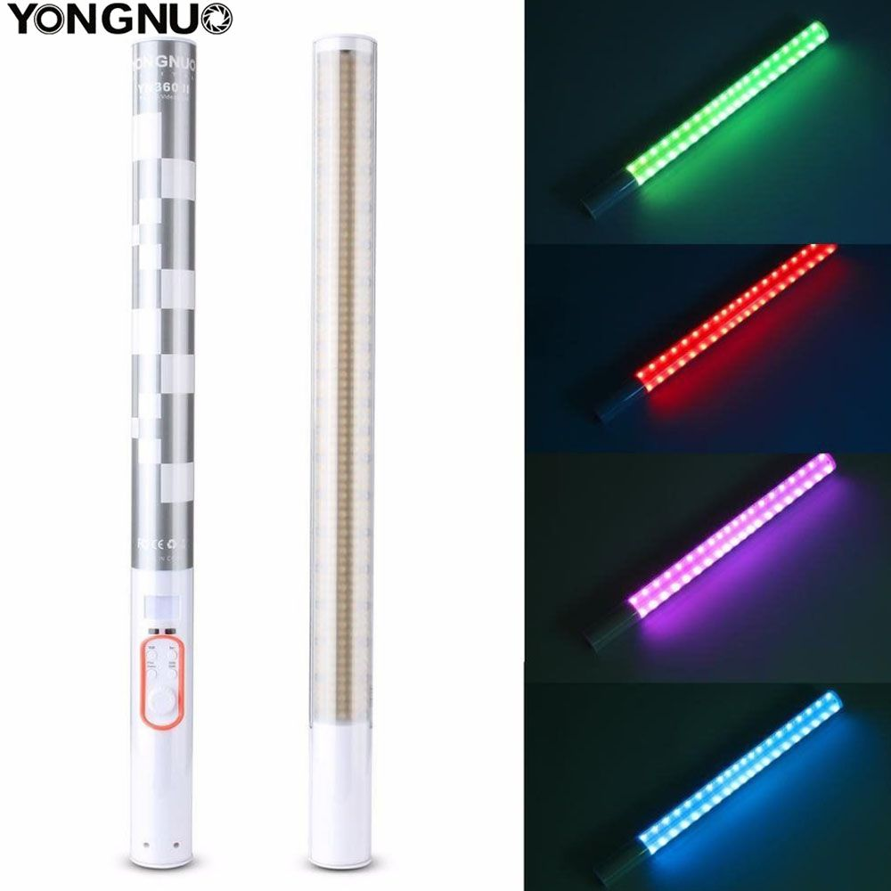 YONGNUO YN360II YN360 II LED Video Light Handheld ICE Stick Photo lamp Bicolor 3200k-5500k with RGB controlled by Phone APP