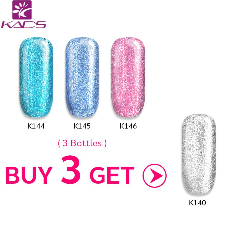 KADS Buy 3 Get 1 Gift 9.5ml  Platinum Gel Nail Polish Long Lasting Led UV Gel Nail varnish UV Led Lamp Nail Gel Polish