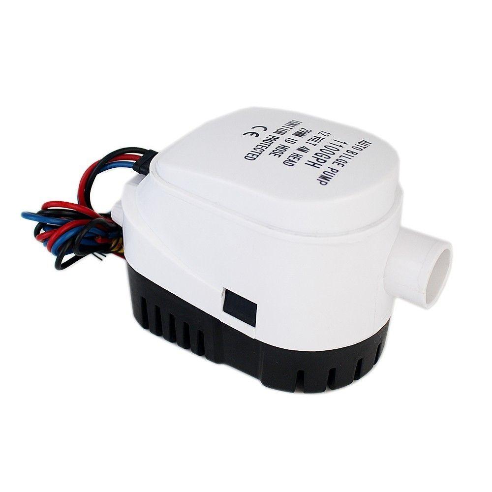 600GPH DC 24 V pompe de cale automatique pour bateau avec interrupteur à flotteur automatique, pompe à eau électrique submersible 24 v volt 24 volts 600 GPH