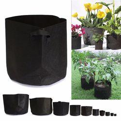 1-10 Gallon Jardin Plantation Sacs Noir Tissu Pots Des Plantes Légumes Pomme De Terre Ronde Poche Pot Récipient Croître Sac Jardin fournitures