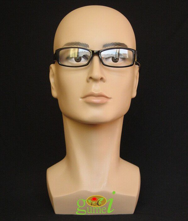 Бесплатная доставка Манекен Manequin Манекен реалистичный Пластик мужской манекен голова для парик солнцезащитных шарф Jewelry шапка Дисплей