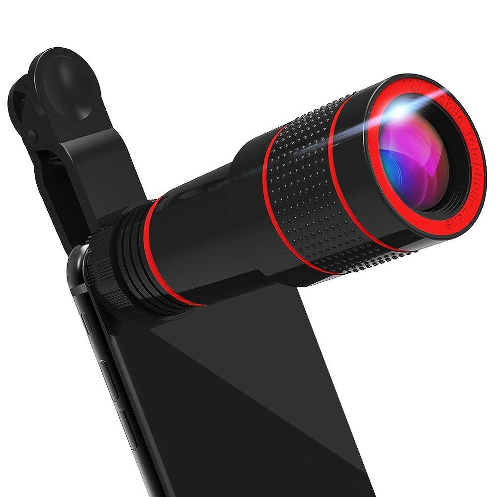 Universal clip 8X 12X Zoom Mobile Phone Optical Telescope Lens Telephoto External phone Camera Lens for iPhone Sumsung XIAOMI