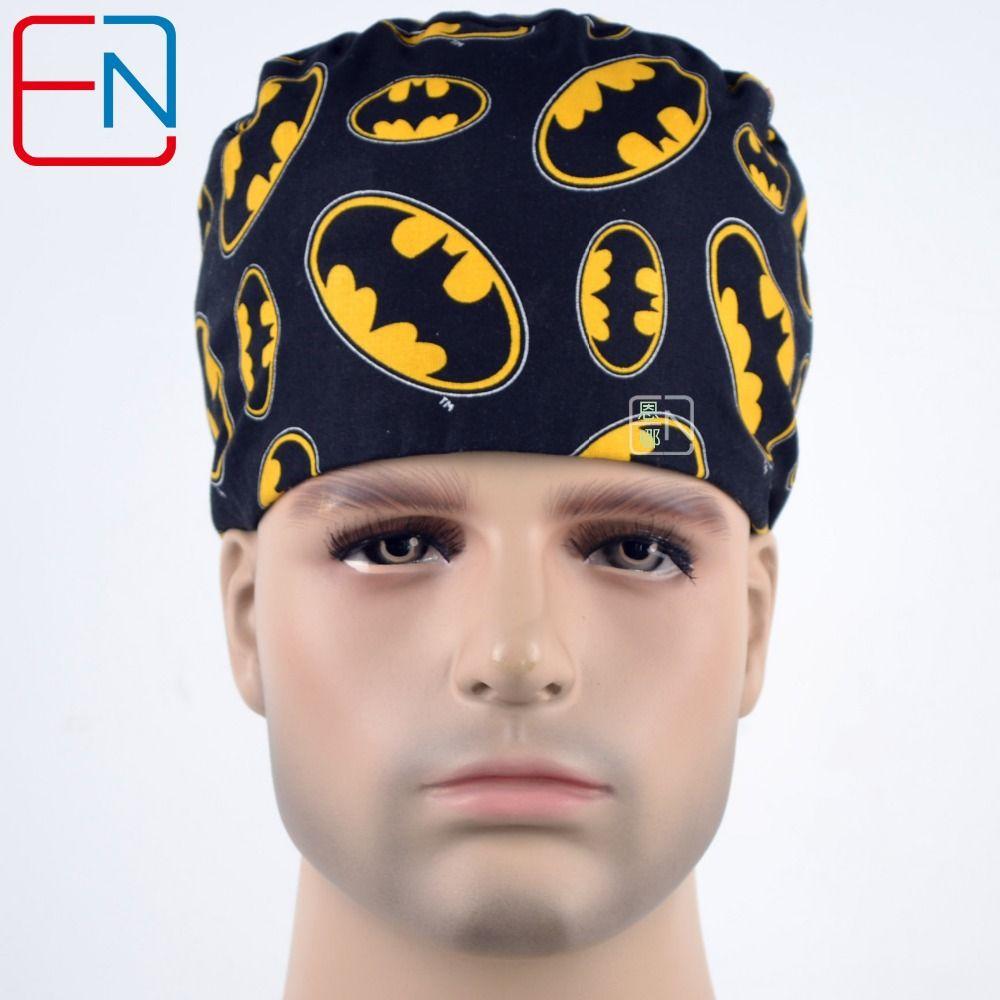 Hennar hommes gommage casquettes héros imprimé pour médecin infirmière travail casquette Nask accessoires médicaux coton naturel matériel chirurgical casquettes