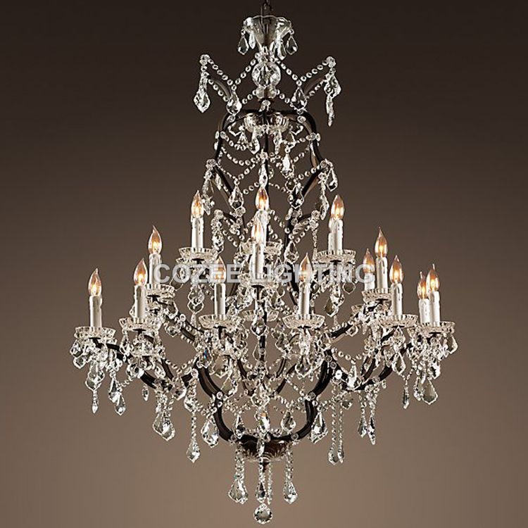 Vintage Crystal Chandelier Lighting Rustic Candle Chandeliers Light lustres de cristal for Living Dining Room Home Hotel Decor