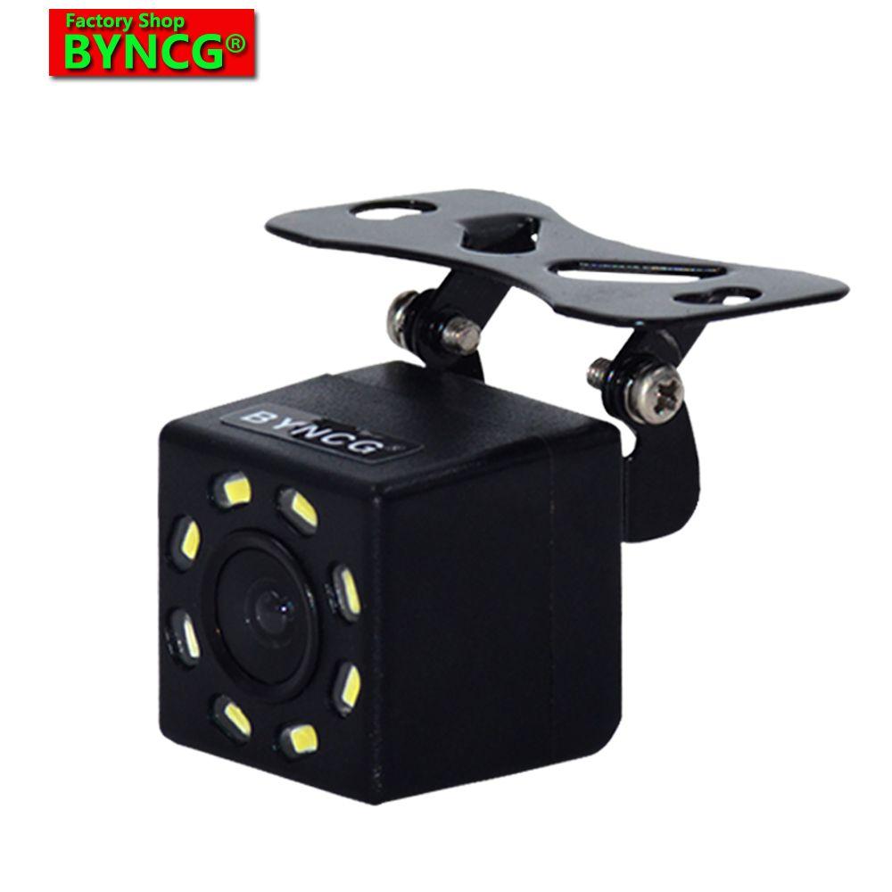 2019 nouvelle caméra de recul de voiture caméra de recul universelle caméra de recul de stationnement 8 LED Vision nocturne étanche caméra de recul grand degré pour 2 din Android GSP DVD MP5 Autoradio Vedio 10 7 5 4.3 pouces moniteur lecteur