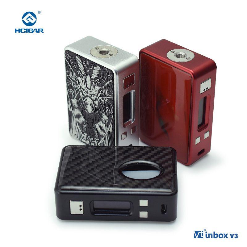 Original HCIGAR VT inbox V3 squonker Mod Output 1-75w Vaporizer Evolv DNA75 Chip Powered 18650 Battery Electronic cigarettes