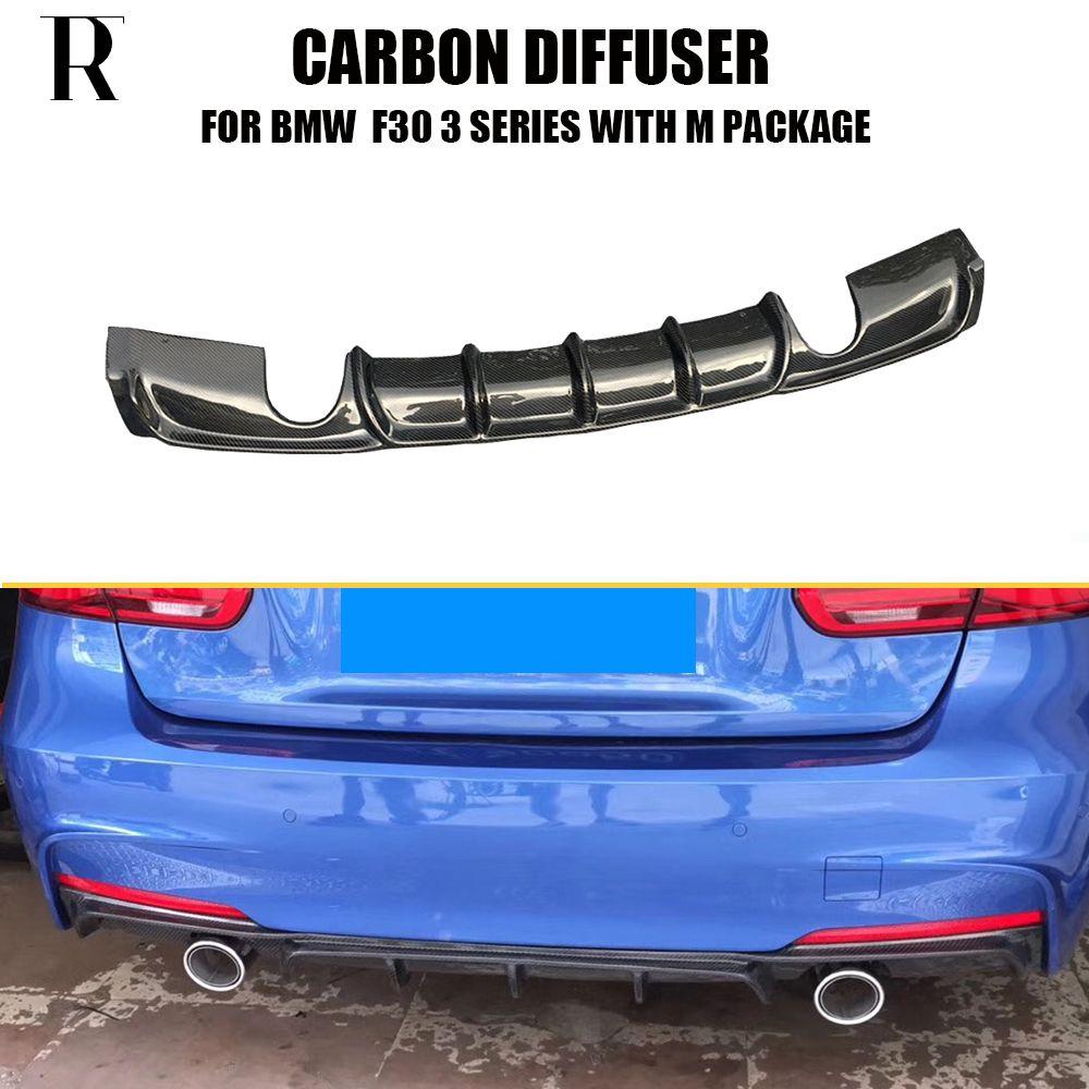 F30 M Style Performance en Fiber de carbone pare-chocs arrière diffuseur lèvre pour BMW F30 320i 328i 320d 325d m-tech m-sport pare-chocs 12-18