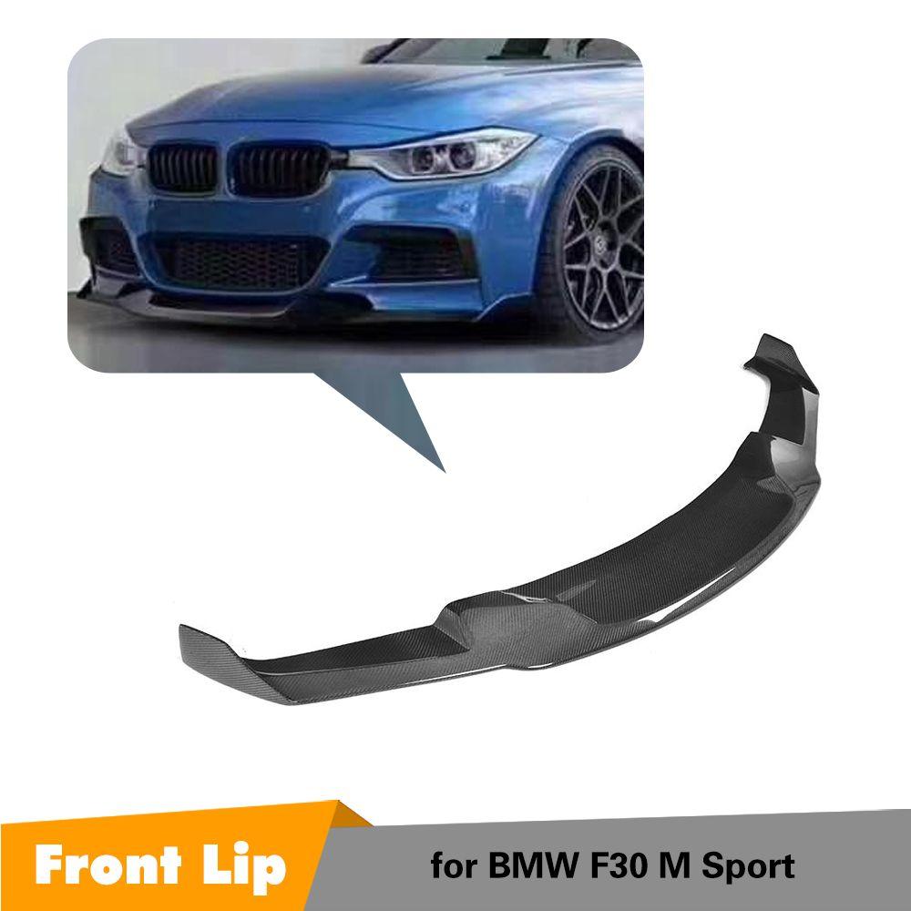 Carbon Fiber Front Lip Spoiler Stoßstange Kinn Schürze für BMW F30 F35 M Sport 2012-2018