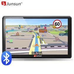 Junsun Portable Voiture GPS Navigation Bluetooth Unités 7 Pouce écran Capacitif 8 GB Windows CE 6.0 Vie Des Cartes À Vie Navigateur