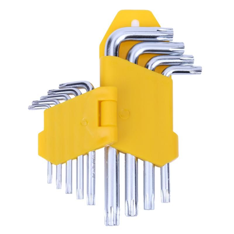 9pcs/lot Hex Key Cross Inner Hexagon Wrench Triple Cross L Hexagon Allen Wrench Spanner Repair Tool Steel Hand Tool Set