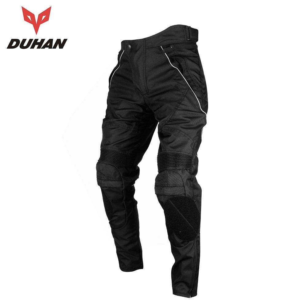 DUHAN Motorcycle Pants Men Moto Trousers Racing Windproof Motocross Riding Sports Pants With Removable Protector Guards