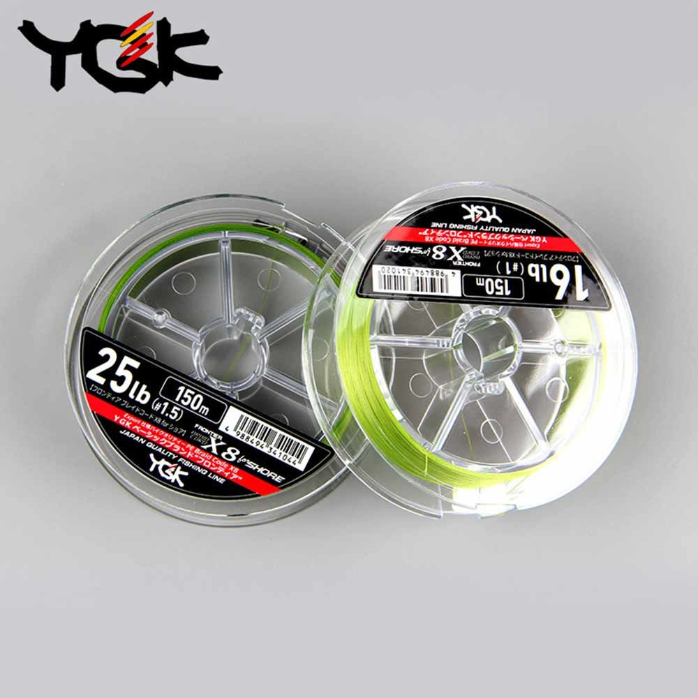 YGK FRONTIER X8 150M PE line 8 Braid Fishing line high strength Smoothly 0.8#-2.0# sedal de pesca 100% original
