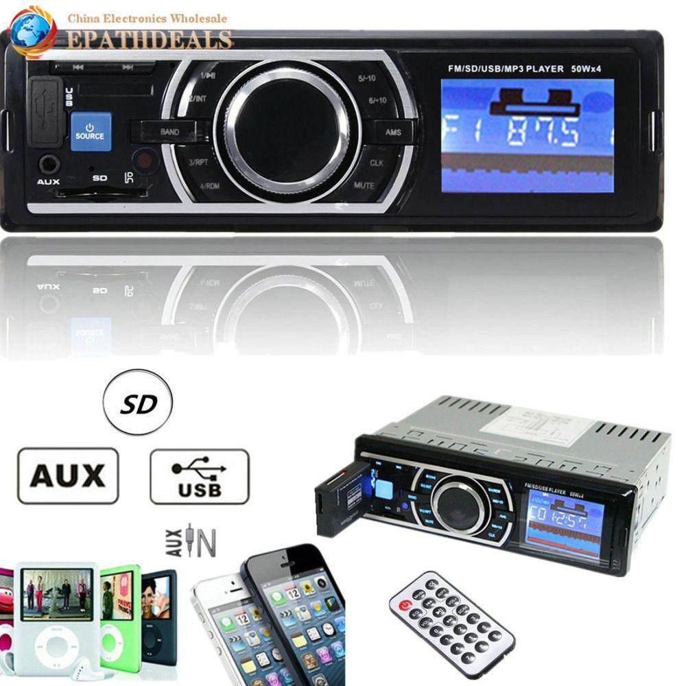 25W x 4CH Auto Car Radio Stereo Audio In-Dash Aux Input Receiver with SD / USB / MMC / AUX / MP3 FM Player + Remote Control