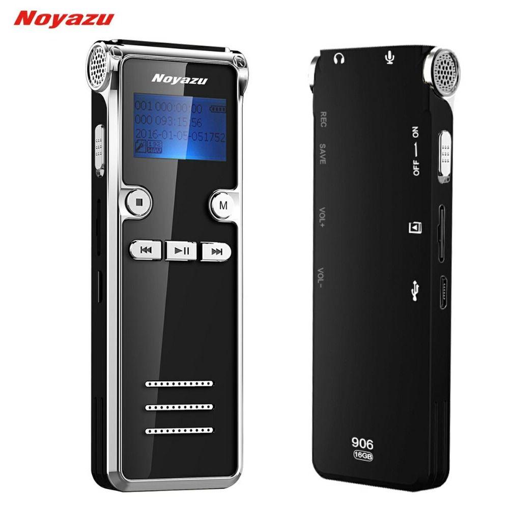 Noyazu 906 8G Mini Digital <font><b>Voice</b></font> Recorder Long time 600 Hours Recording Long standby Ditaphone Professional MP3 player