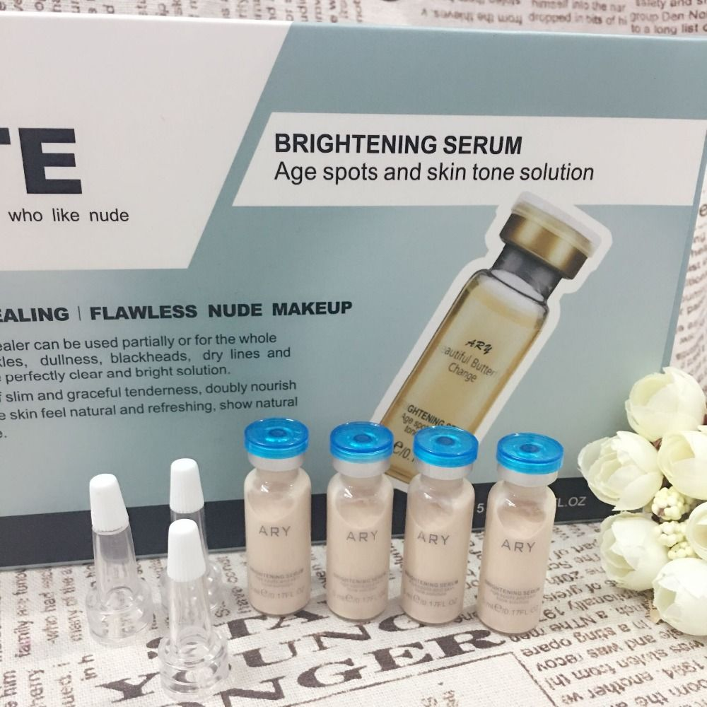10PCS semi-permanent make-up micro-finishing at the end of the dermatics whitening brightening complexion MTS essence