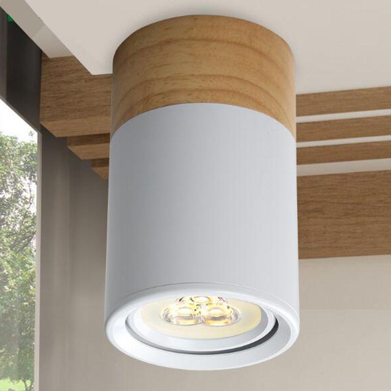 Bois Spot LED Lumières 3 W Salon Chambre 90-260 V Plafond Lampes réglable angle LED Intérieur rural rustique lampes