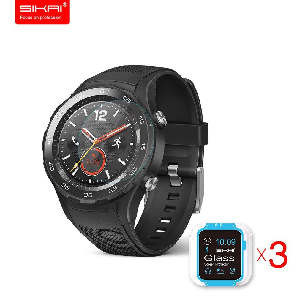 3 pièces verre trempé protecteur d'écran pour Huawei montre 2 écran garde Film de protection pour Huawei Watch2 montre intelligente 9 H 2.5D 0.2mm
