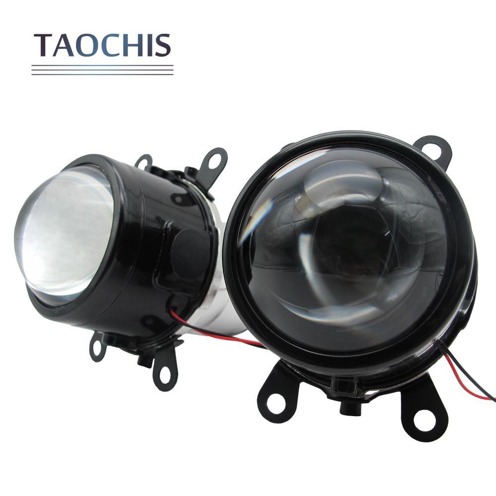 TAOCHIS M6 2.5 inch Bi-Xenon HID Auto Car-Styling Fog Light Projector Lens Hi/Lo Universal Fog Lamp Car Retrofit H11 Bulbs