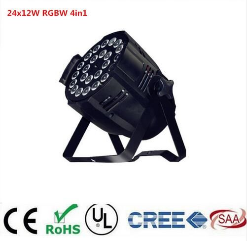 24x12w 4in1 rgbw led par light DJ Par Cans Aluminum alloy Shell stage light dmx light