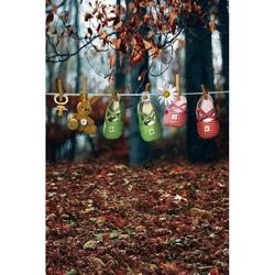 Vinyl backdrops for photography Forest Theme Hanging Cute Baby cloth shoes Digital Printing studio Background Photo MR-2094