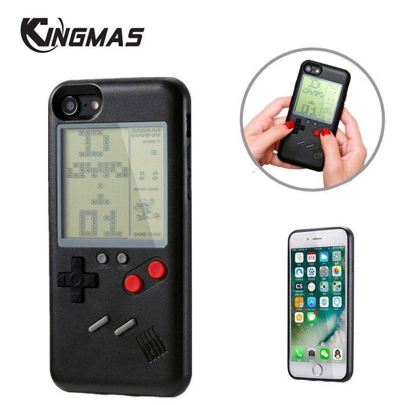 Rétro Multifonction Téléphone Cas pour iPhone 6 cas 6 s 7 8 Plus iPhone X Jouer Nintendo Tetris Gameboy iPhone cas Cadeau Pour enfant