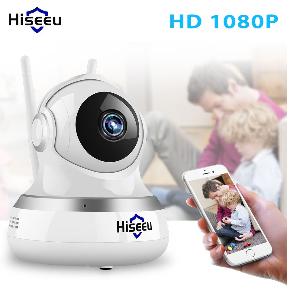 1080P IP Camera WIFI <font><b>CCTV</b></font> Video Surveillance P2P Home Security cloud/TF card storage 2MP babyfoon camera network Hiseeu