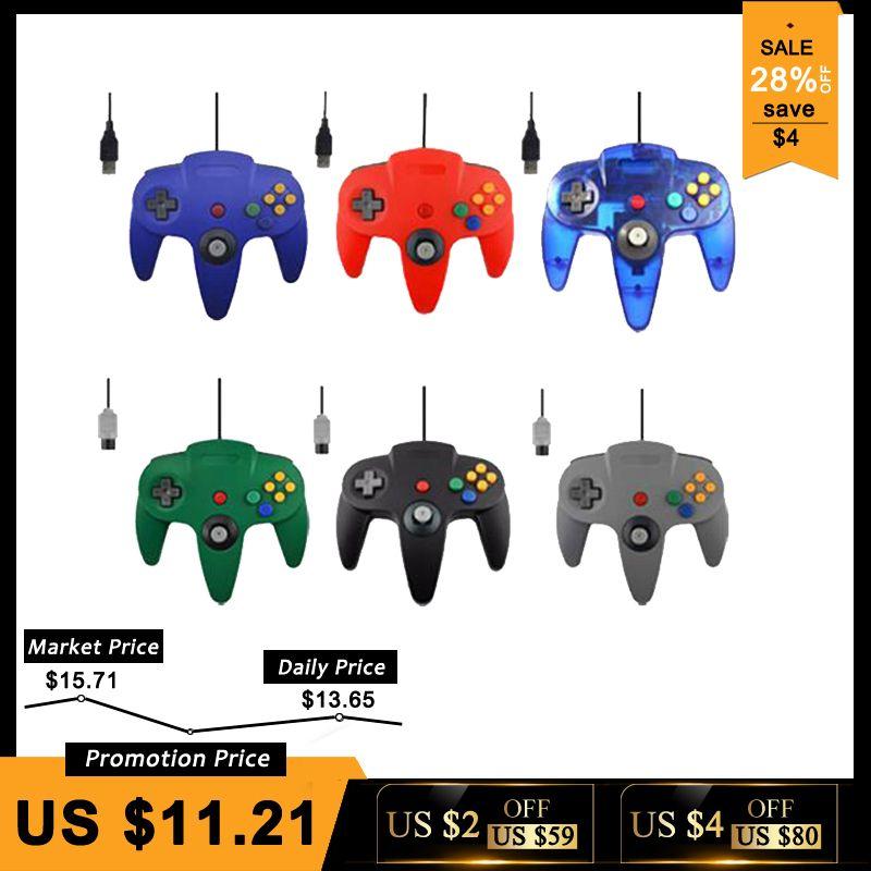 Filaire USB/N64 Contrôleur Pour Nintend N64 Joystick Jeux Gamepad Joypad Pour Gamecube Controle Pour N64 PC Pour Mac noir Gamepad