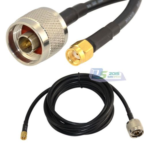 6.5Ft 2 M N mâle à RP SMA prise femelle Coaxial Pigtail Jumper Câble Adaptateur RG58