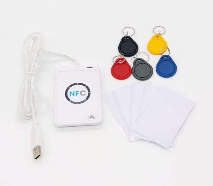 NFC Reader USB ACR122U Contactless Smart Card Writer Rfid Copier Duplicator +5pcs UID Tags + 5pcs UID Cards