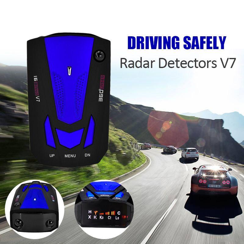 Детектор автомобиль V7 360 градусов Обнаружение голосовой оповещения автомобилей Антирадары анти Английский Голос для автомобиля Скорость ...