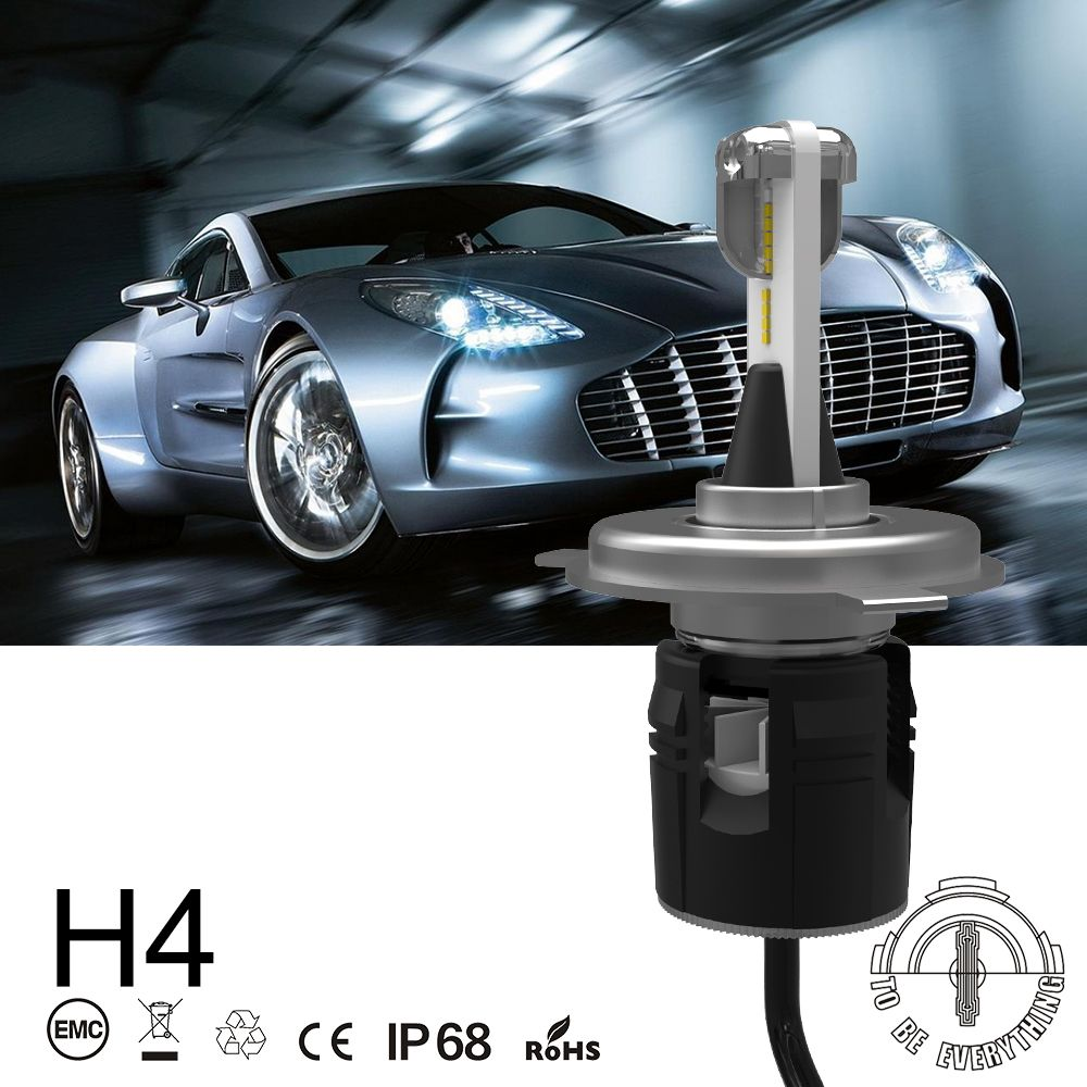 JGAUT B6 LED H4 Car Headlight Bulbs Hi-Lo Beam 72W 8000LM 6000K Auto Headlamp Fog Light Universal Car Accessories Diode Lamps