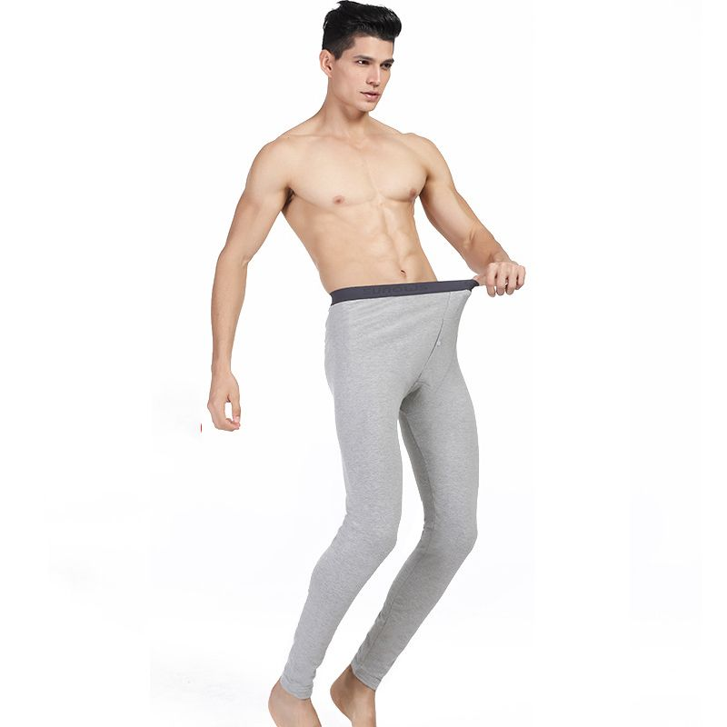 Plus Size XXXL Elastic Long Johns Underwear Male 2017 Brand Men Autumn Winter Lycra Or Cotton Thermal Warm Leggings With Button