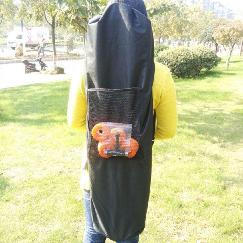 1 stück Länge 130 cm Wasserdicht Komplette Longboard Skateboard Schultertasche Rucksack Schwarz Oxford Tuch Tragetaschen mit Kordelzug