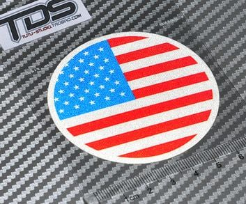 High quality For USA flag  car Reflective sticker and decals hellaflush fatlace cool modified accessories