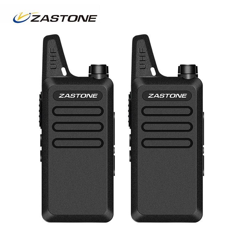 Zastone ZT-X6 Mini Talkie Walkie UHF 400-470 MHz Portable Ham Radio De Poche Radio Bidirectionnelle Émetteur-Récepteur Portable Talkie walkies