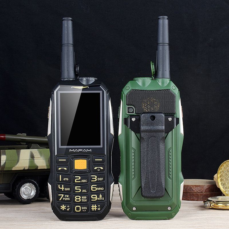 Mampa M2 + téléphone portable robuste avec antenne bon Signal UHF talkie-walkie 1.5W batterie externe torche interphone caractéristique téléphone portable