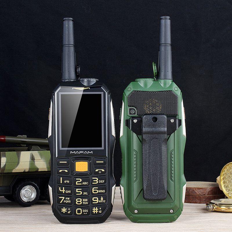 Mampa M2 + téléphone portable robuste avec antenne bon Signal UHF talkie-walkie 1.5 W batterie externe torche interphone caractéristique téléphone portable