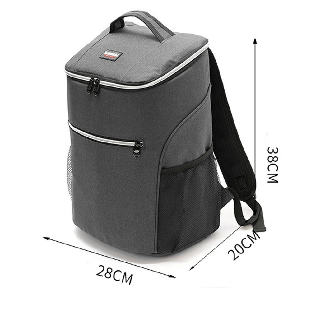 20L 600D oxford grand refroidisseur sac thermo déjeuner pique-nique boîte isolé cool sac à dos banquise frais transporteur thermique épaule sacs