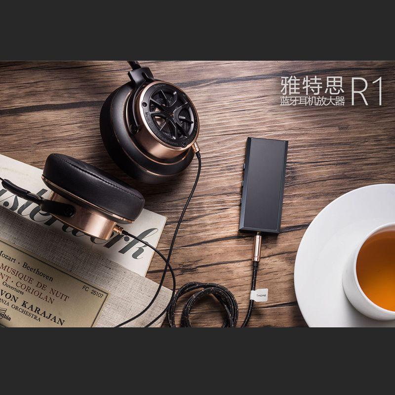 Artextreme R1 Bluetooth Headphone Amplifier V4.1 Portable 6061 Aluminum CNC Wireless HiFi Amplifier with Mic 180mW Output 70ohm