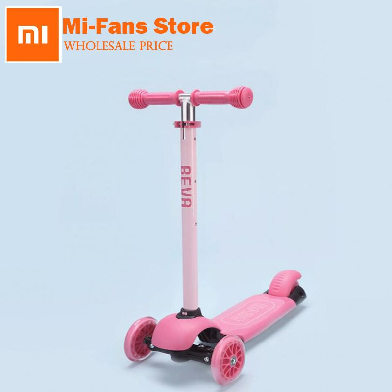 New Arrival xiaomi BEVA Children's Scooter Four Security Guarantee Anti Slip Easy Control Adjustable Height Scooter Safe Scoote