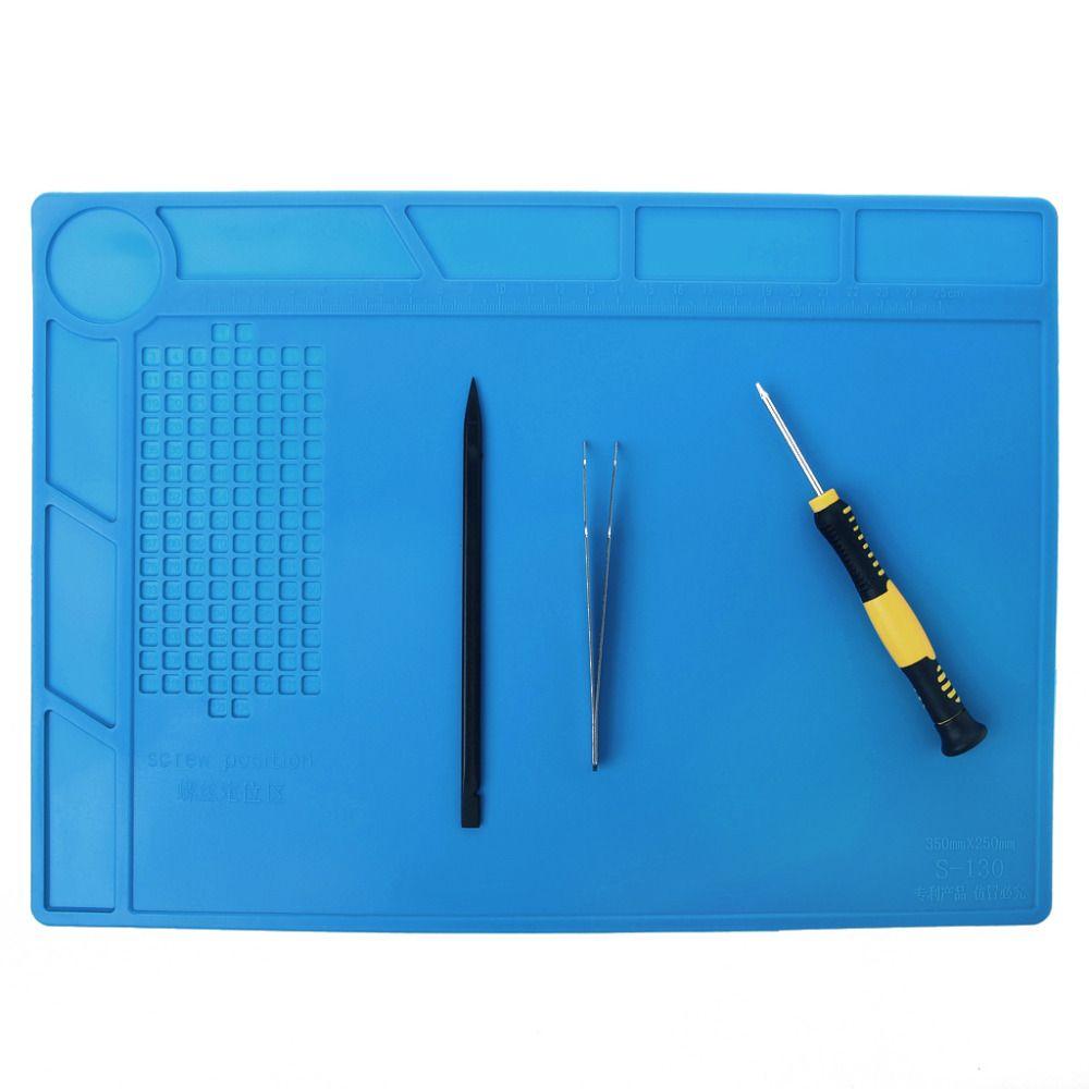 1 stück 3 Größe Blau Farbe Heat-beständig Silikon Pad Reparatur Matte Wärmedämmung BGA Löten Station