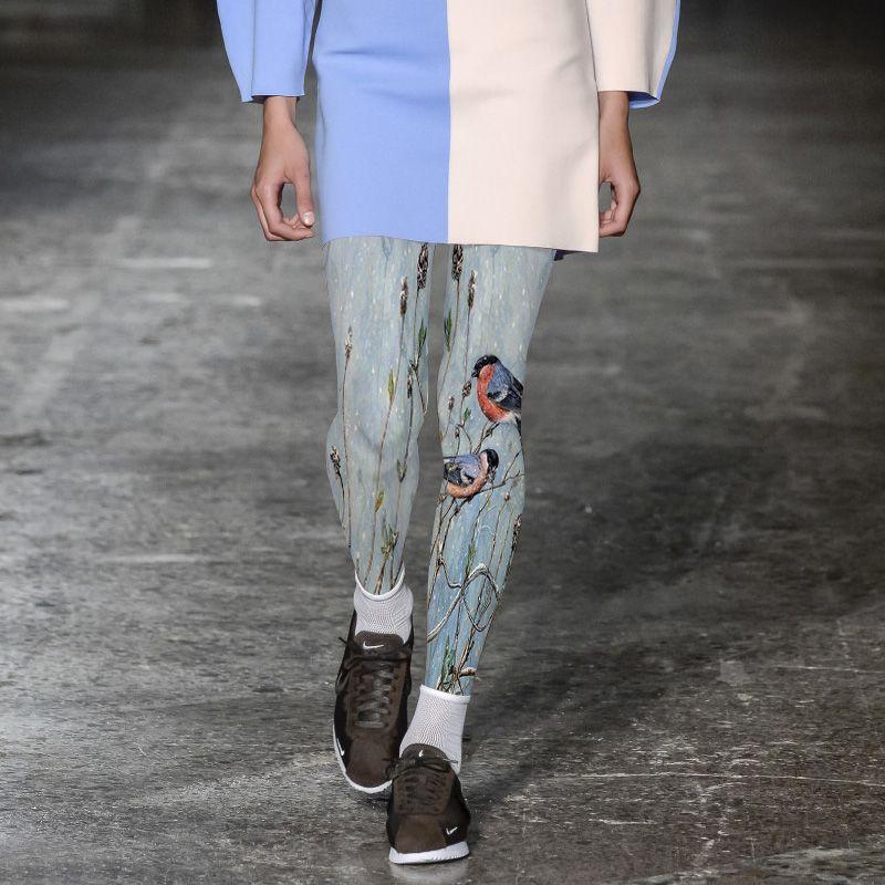 2017 Rushed Stockings Women Tights Medias Pantis Woman High-grade Pantyhose Female Fashion Bird Branches Printed Free Shipping