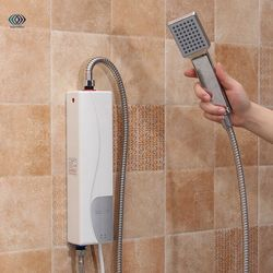 Мгновенный Электрический водонагреватель в помещении 220 в 3000 Вт AU вилка принадлежности для ванной комнаты бытовой практический двойной кор...