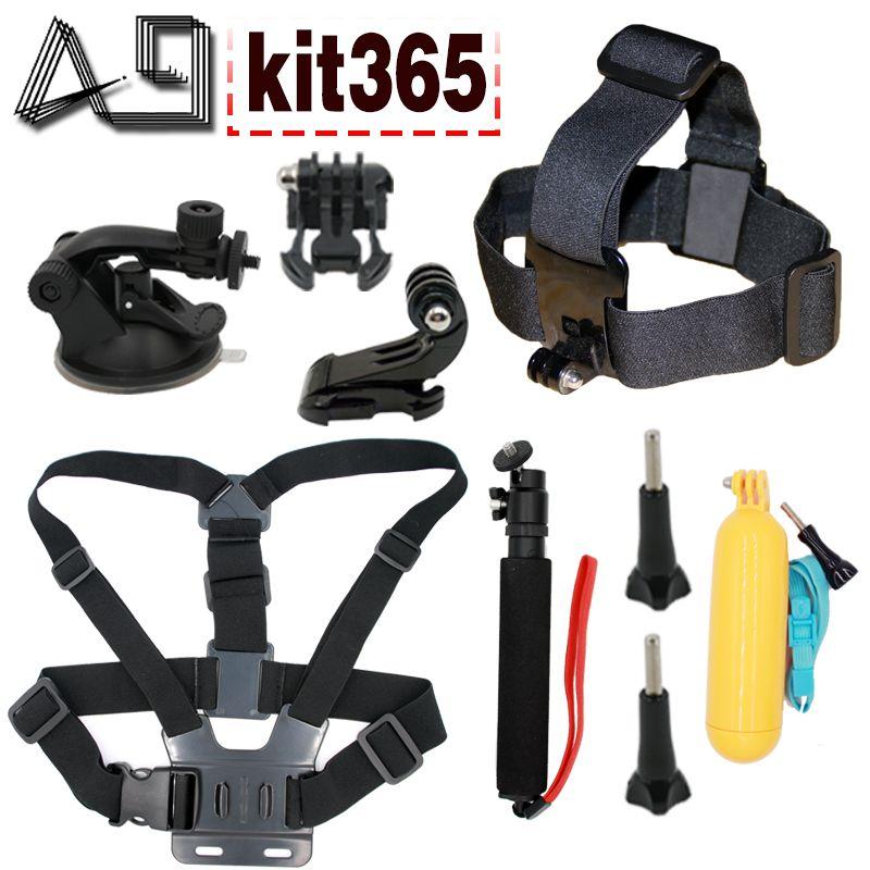 A9 for Gopro accessories set mount for gopro hero 5 hero 4 3+ sony action cam Eken h9 xiaomi yi 4K SJCAM camera floating selfie
