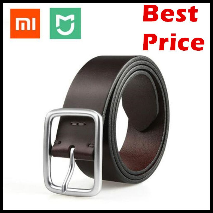 (24 Hour Ship Out) 2017 Xiaomi Mijia Qimian Leisure Cow Leather Belt Five Hole Two Color 38mm Width for Man Alluminum Buckle