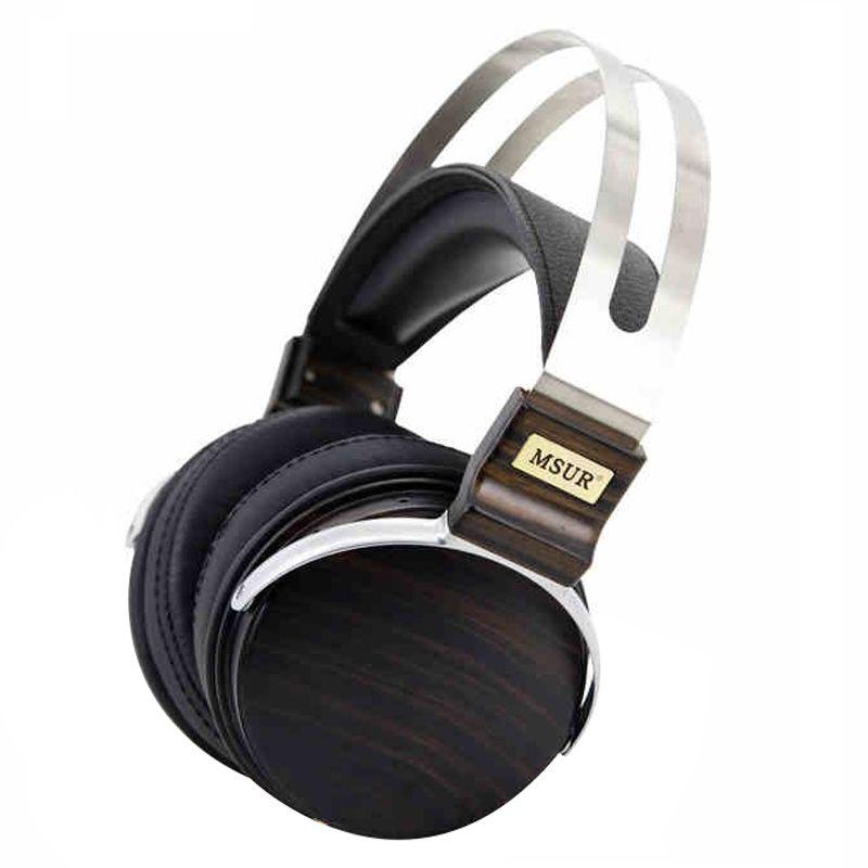 100% original-high-end-elektronische msur n650 hifi holz metall kopfhörer headset kopfhörer mit beryllium legierung fahrer portein leder t80